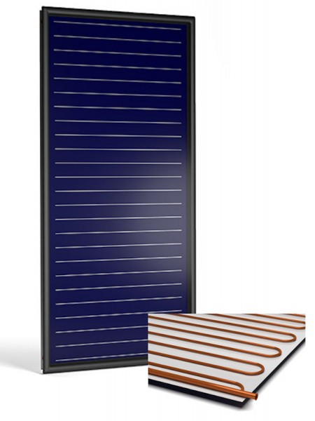 Flachkollektor Sonnenkollektor STI FKF 200V Al/Cu (2,13 m²)