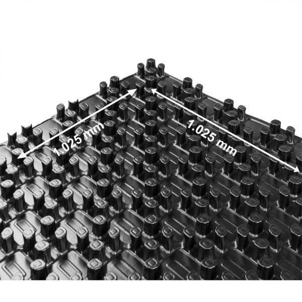 30qm Noppenplatte Rohrträgerplatte Fußbodenheizung ohne Dämmung