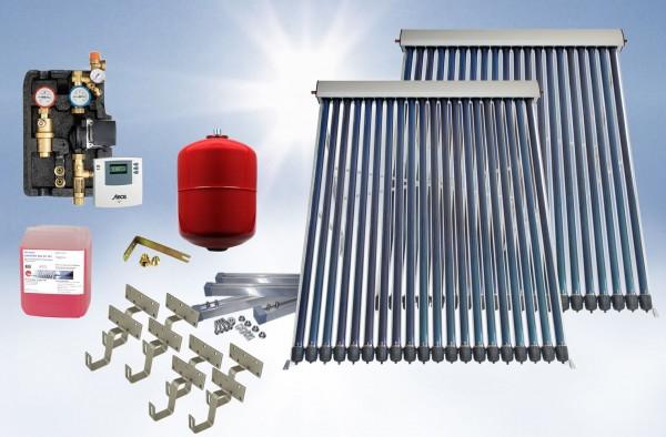 Solarthermie Basic Paket - Eurotherm-Solar-PRO Vakuumröhrenkollektor - 7,68m²