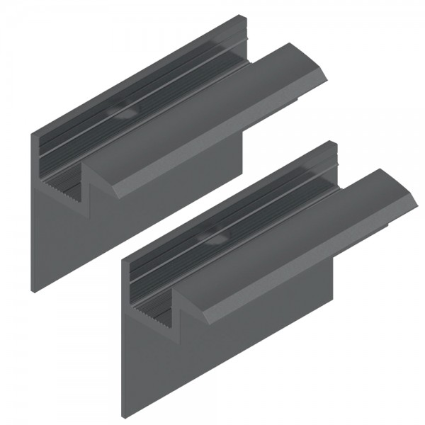 2er-Set Endklemme für 35 mm Module schwarz Solar Photovoltaik Aluminium