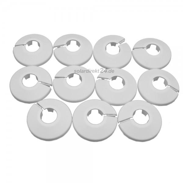 10er-Set Heizkörper Klapprosetten weiß Abdeckrosetten Rohrabdeckung Heizungsrosetten