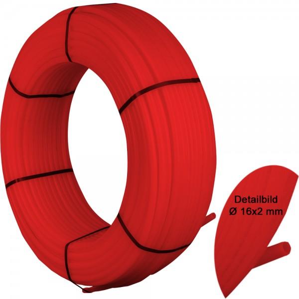 RED PIPE Spezialrohr PE-RT 16 x 2,0mm 400 Meter Heizrohr Fußbodenheizung 5-Schicht