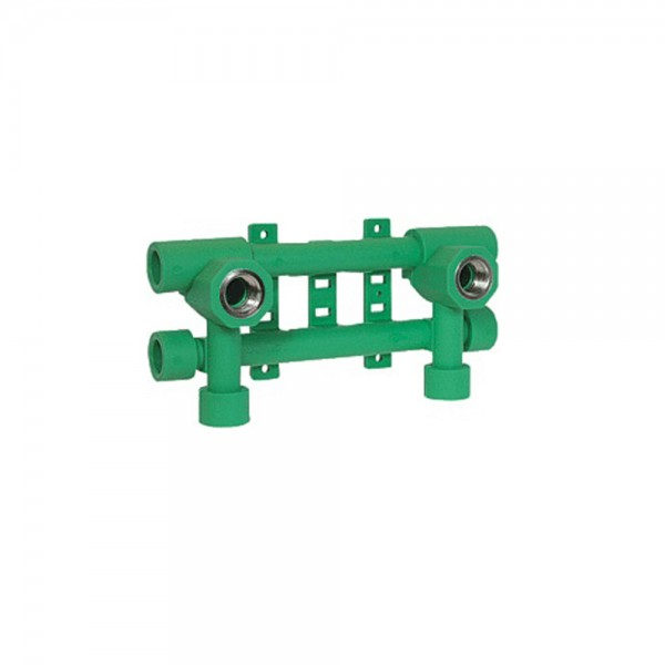 Aqua-Plus - PPR Rohr Hahn-Fixierungsanlage d = 20 mm, grün