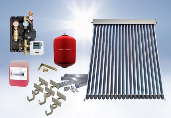 Solarthermie Basic Paket - Eurotherm-Solar Vakuumröhrenkollektor - 3,1m²