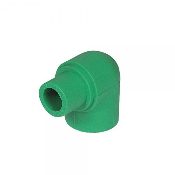 Aqua-Plus - PPR Rohr Winkel 90° Kupplung / Stecker d = 20 mm, grün