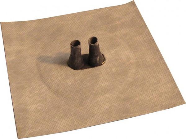 Luftdichtungsmanschette mit Vlies-Butyl-Klebekragen Doppelleitung 2x 100-130mm