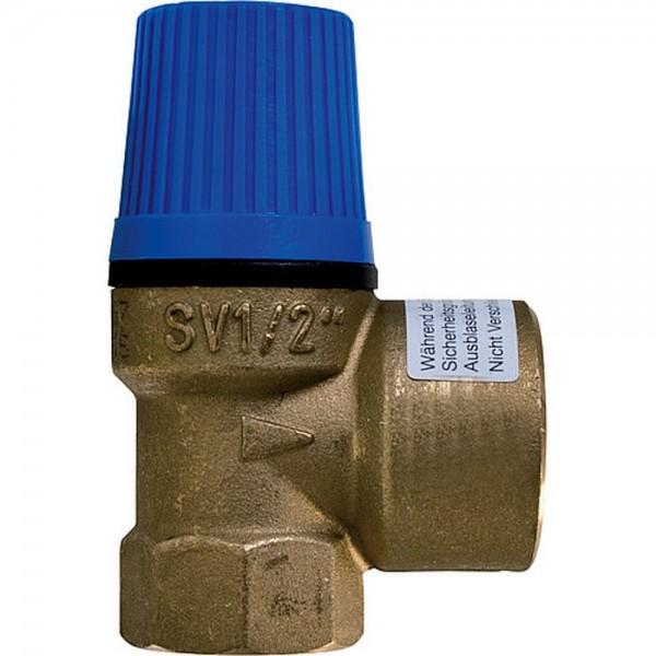 """Caleffi Membran Sicherheitsventil Überdruckventil Wasser 1"""" x 1 1/4"""" - 6 bar"""
