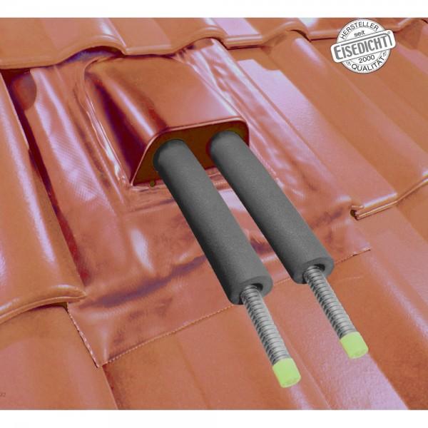AufdachDICHT für Solar Rohre Leitungen rot Abdichtung Dachdurchführung Eisedicht