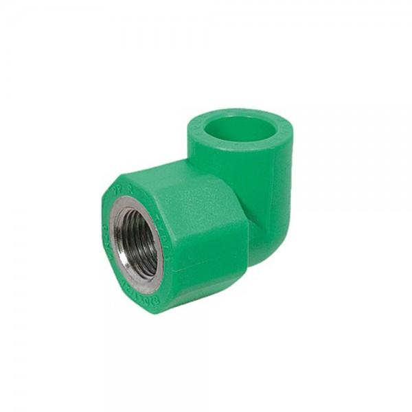 Aqua-Plus - PPR Rohr Winkel 90° IG, grün