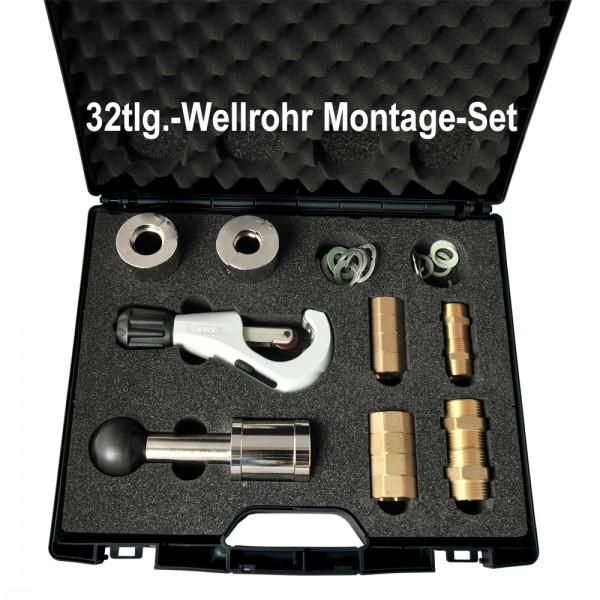 32tlg. Wellrohr - Montage - Koffer DN16 + DN20 Wellrohre Solarrohre