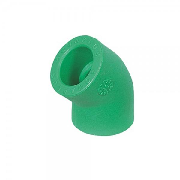 Aqua-Plus - PPR Rohr Winkel 45°, grün