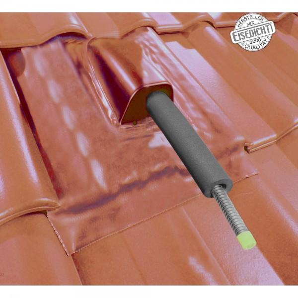 AufdachDICHT für Solar Rohr Leitung rot Abdichtung Dachdurchführung Eisedicht