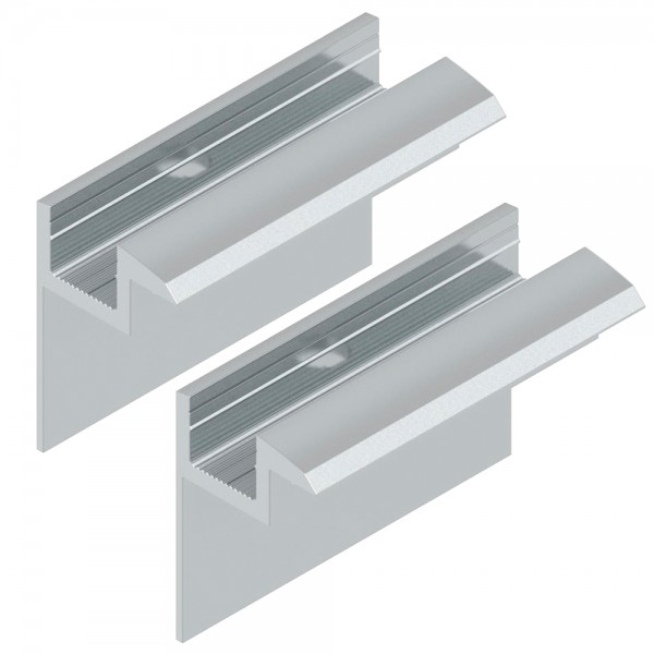 2er-Set Endklemme für 40mm Module silber Solar Photovoltaik Aluminium