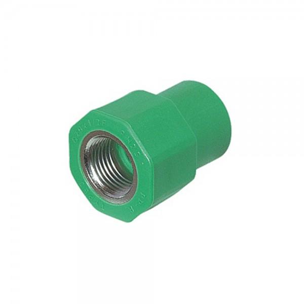 Aqua-Plus - PPR Rohr Kupplung IG, grün