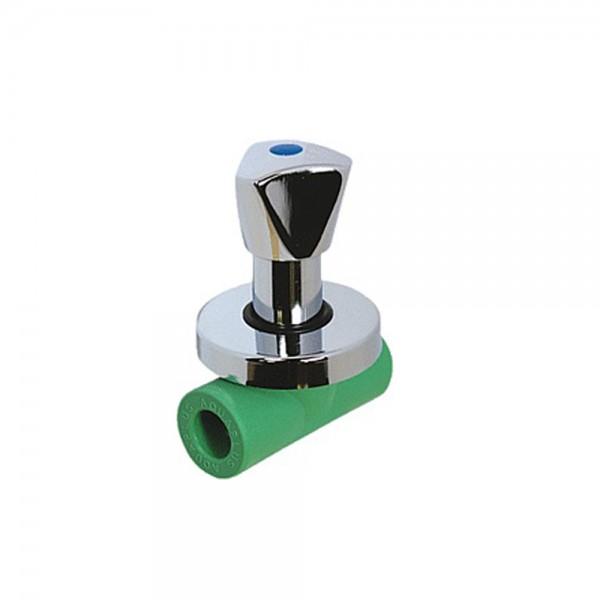 Aqua-Plus - PPR Rohr absperrbarer Hahn, grün