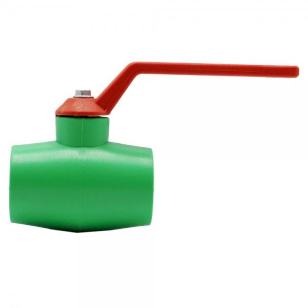 Aqua-Plus - PPR Rohr Kugelhahn mit Griff Kunststoff Schweißsysteme 20-40 mm