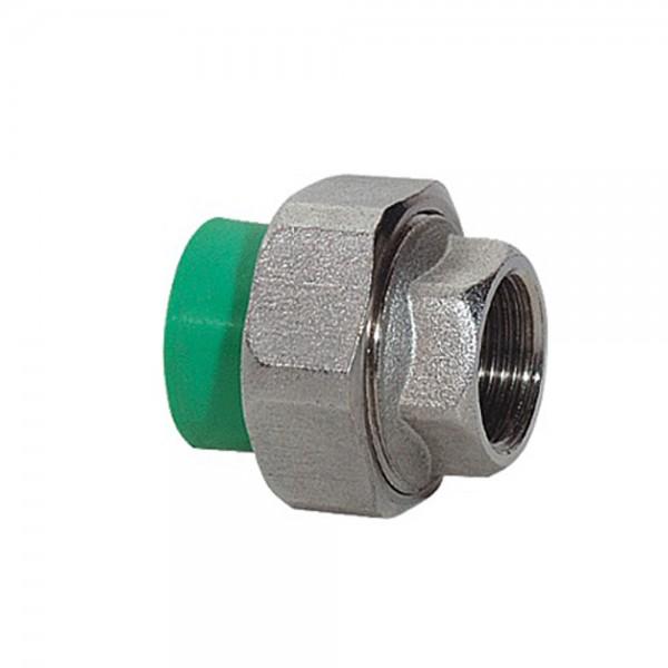 Aqua-Plus - PPR Rohr Kupplung IG Messing, grün