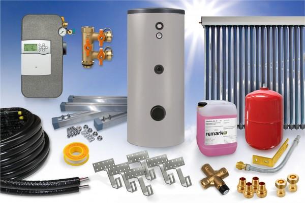 Vakuumröhrenkollektor CPC Black-Line - Brauchwasser Paket 5,12m² - 400 Liter Speicher (BW-5.400)