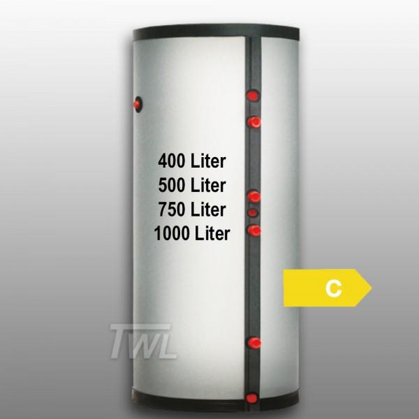Edelstahl Solarspeicher 2x Wärmetauscher EEK-C Brauchwasser-Speicher