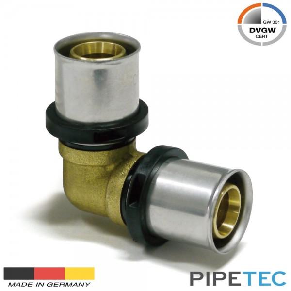 Pipetec Press - Winkel 90° 16x2mm, DVGW, TH Profil, Pressfitting