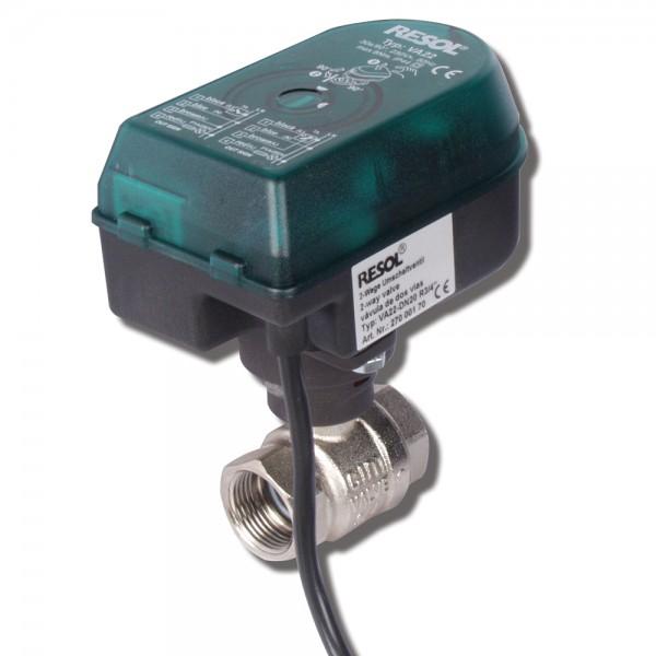 Resol VA22 Motorkugelhahn DN15 bis DN32 2-Wege-Ventil 220V Volumenstromregelung