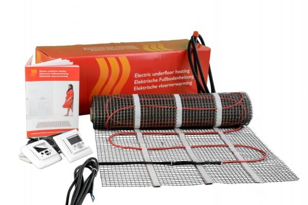 Elektrische – Fußbodenheizung inkl. Regler, vollwertige Raumheizung für 6 m²