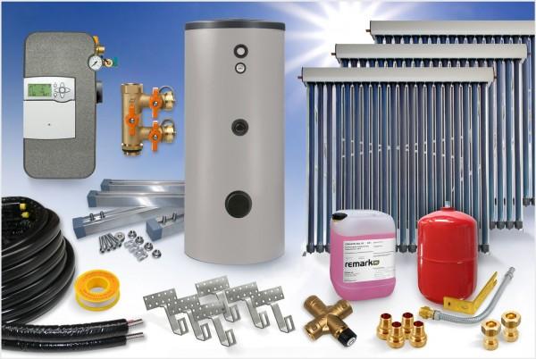 Vakuumröhrenkollektor - Brauchwasser & Heizung Paket 27,48m² - 1500 Liter Speicher (BWH-28.1500)