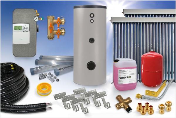 Vakuumröhrenkollektor PRO - Brauchwasser Paket 7,68m² - 500 Liter Speicher (BW-8.500)