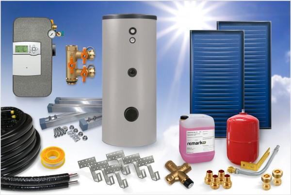 Flachkollektor - Brauchwasser Paket 5,04m² - 300 Liter Speicher (BW-5.300)