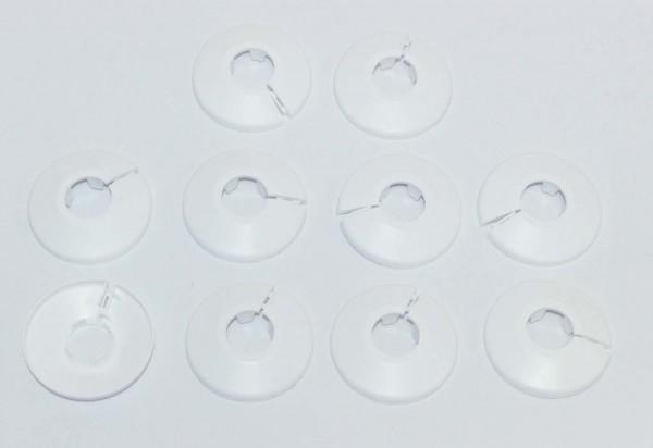 Heizkörper Klapprosetten, weiß, 15mm – 10 Stück