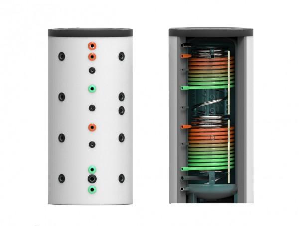 Hygiene- Kombi- Speicher mit zwei Wärmetauschern 1000 Liter inkl. 120 mm Isolierung – 79cm (HKS-WT2-