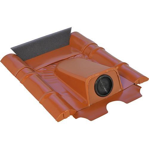 Dachdurchführung für Betonziegel, Braun pulverbeschichtet, verzinkt (2 Stück)